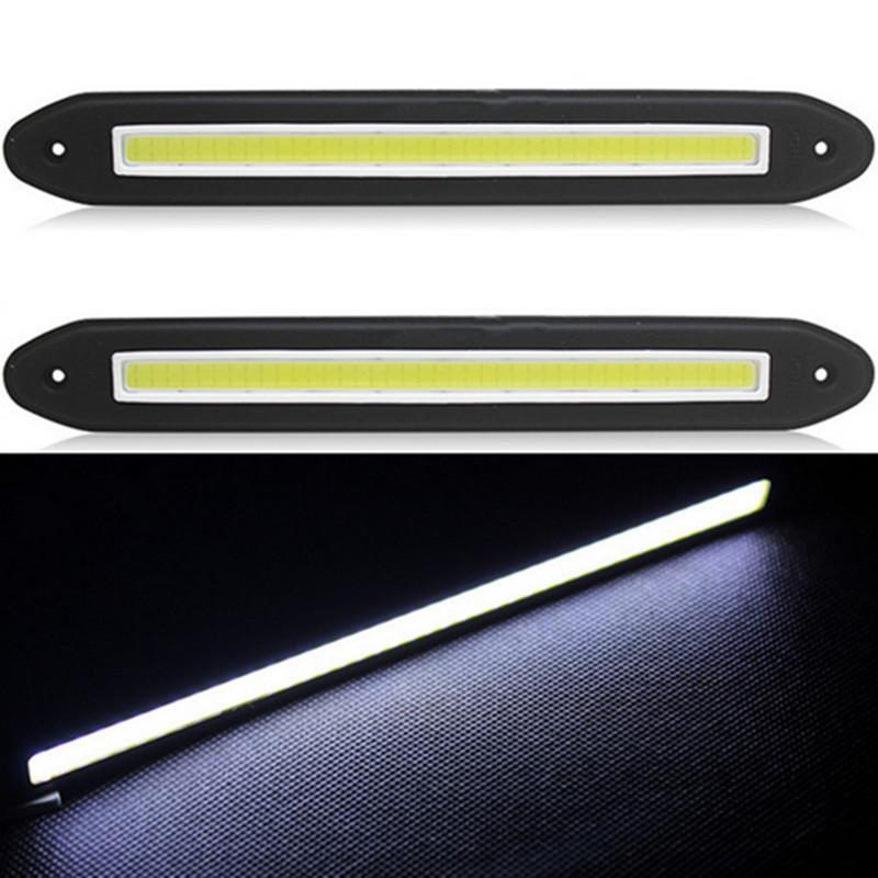 2015 new 2Pcs/lot Car LED COB DRL Fog Lights Flexible Silicone Daytime Running Lights Waterproof Led Fog Light Free Shipping