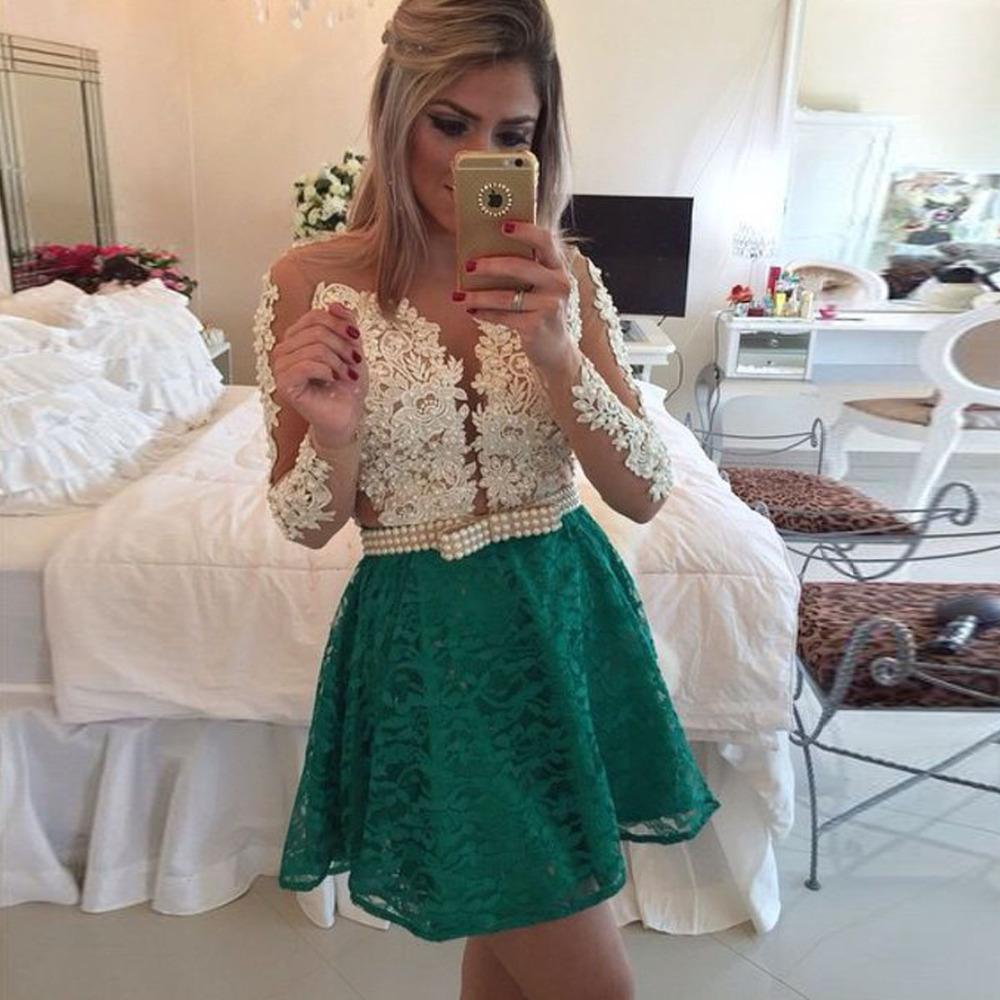 turmec 187 long sleeve prom dress short