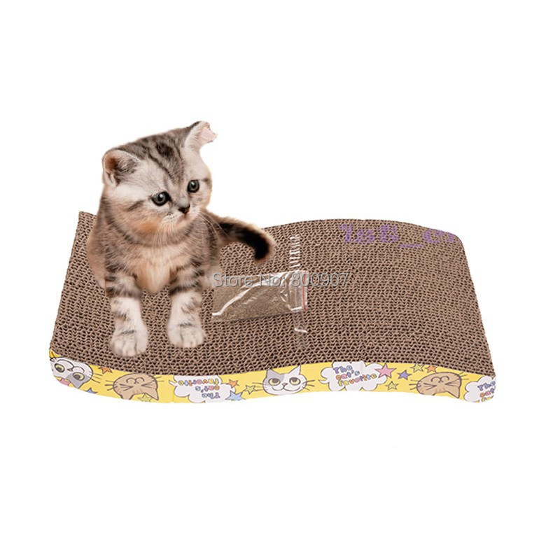 Pet Cat S-shaped Paper Mill Scratch Cat Toy Box Bed Scratching Board Protect Cat Paw Furniture Catmint Litter Catnip(China (Mainland))