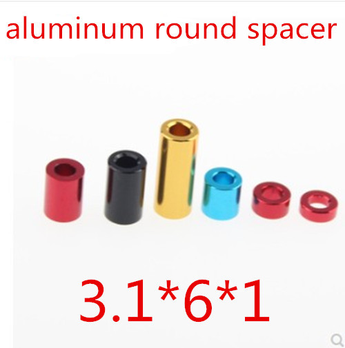 20pcs/ lot High Quality 3*1mm  3*6*1 3mm  Aluminum Round Through Hole  Standoff Spacer Thickness 1mm<br><br>Aliexpress