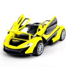 Коллекционные Модели Автомобилей 1:32 Желтый McLaren P1 Сплава Литья Под Давлением Автомобилей Модели Игрушки Автомобилей Электронные Автомобиля С Света и Звука Подарок для Детей(China (Mainland))