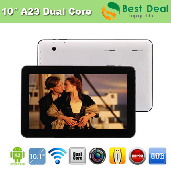 2014 NEW Cheap 10 inch Tablet PC Allwinner A23 Dual Core 1GB/8GB Android 4.4 Dual Camera 1024*600 Capacitive Screen(China (Mainland))