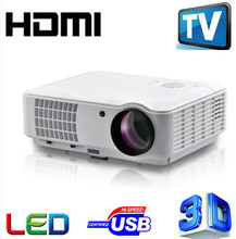 Newest 5500 lumnes Best Home Theater1280X800 Multimedia 1080P HD 3D Video HDMI USB LCD LED Projector Full HD projector(China (Mainland))