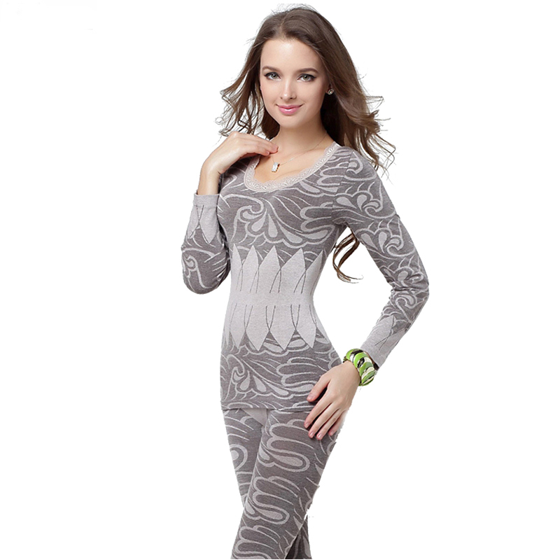 Fashion Slimming Thermo Boby Thermal Underwear Vest Lingeries Womens Thermal Underwear Set Long John(China (Mainland))