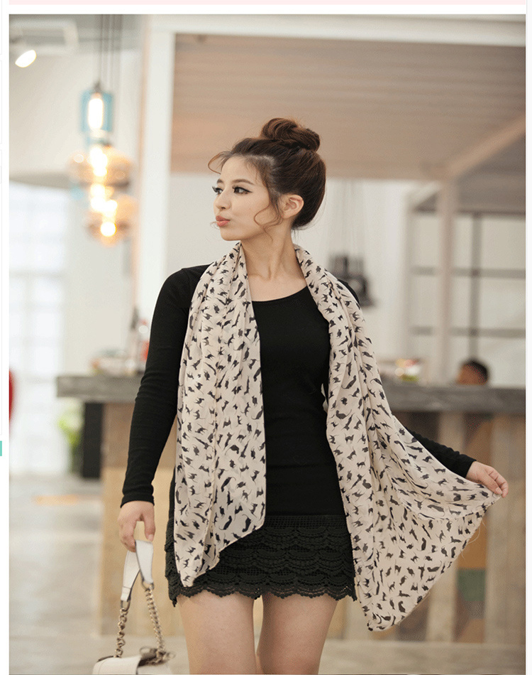 2015 New Design Stylish Women Lady Fashion Long Stole Soft all match Chiffon Summer Scarf Shawl