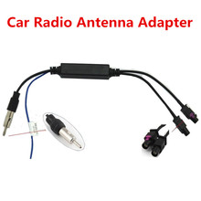 Two Way OEM Car Radio Antenna Adapter Diversity System Fakra for Audi VW BMW Volkswagen Car DVD Player Radio(China (Mainland))