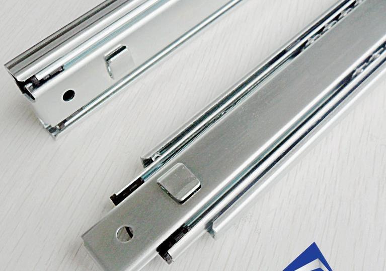 Section three bayonet metal ball bearing slide drawer tool cabinet hanging rail tracks interpolated(China (Mainland))