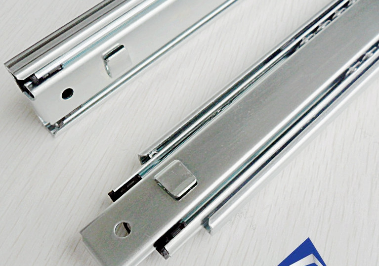 Section three bayonet metal ball bearing slide drawer tool cabinet hanging rail tracks interpolated(China (Mainland))
