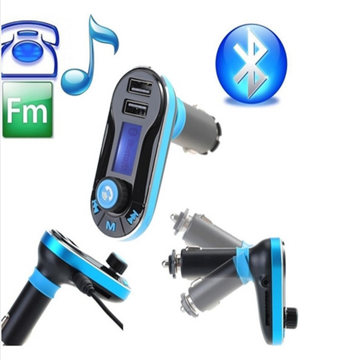 Wireless Hands-free Car Kit Bluetooth FM Transmitter MP3 Player With USB Charging 5V/2.1A Output, Micro SD/TF Card Reader Slot(China (Mainland))