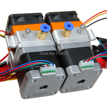 Dual Nozzle MK8 Extruder E3d Nozzle 0 3mm for Reprap 3D Printer 1 75mm Filament for
