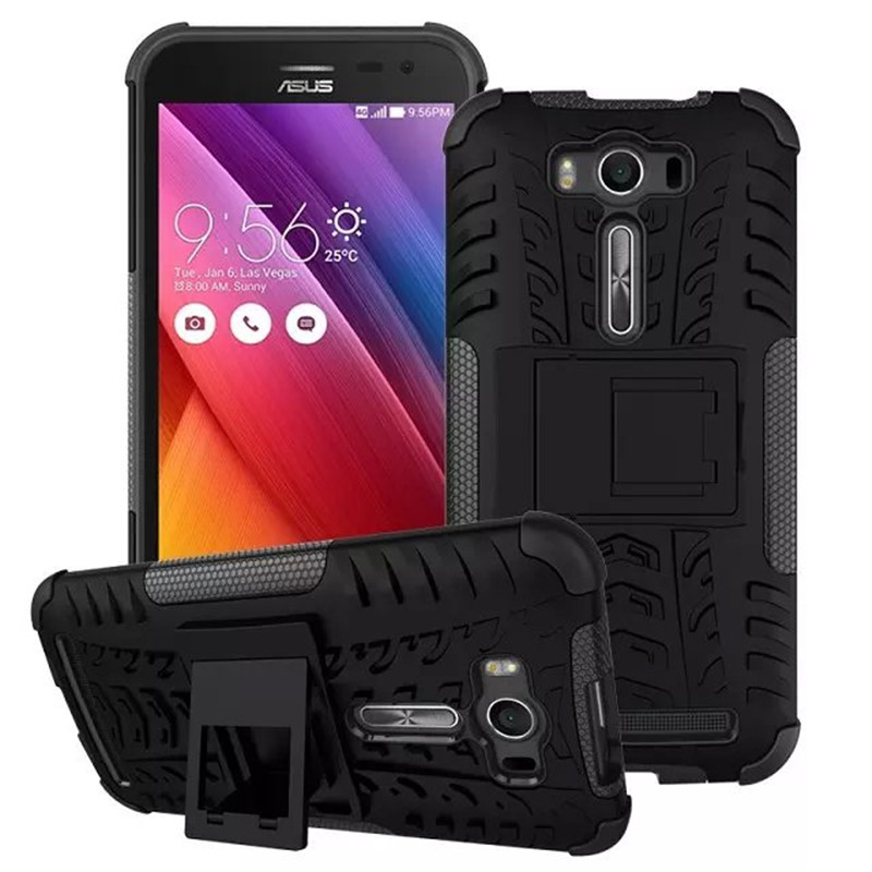 hot sale armour phone case for asus zenfone 2 laser ze500kl 5.0 inch anti knock pc silicone mix hybrid protective shell cover(China (Mainland))