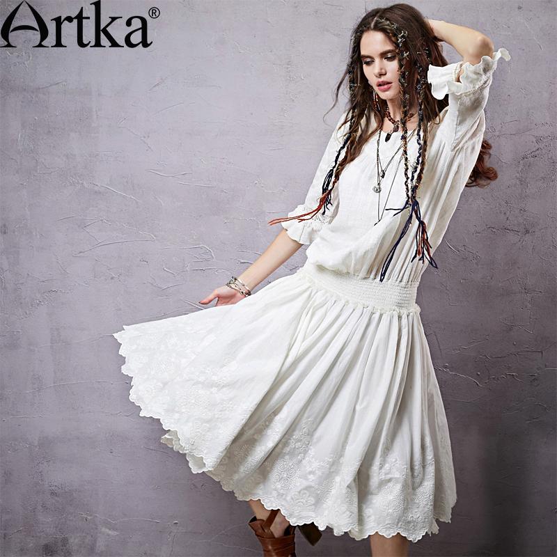 Bohemian White Dress 2015