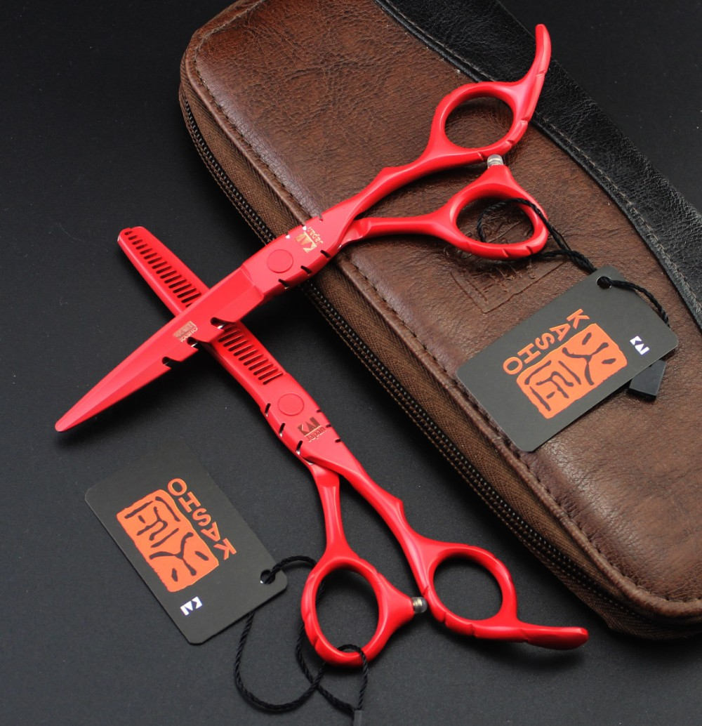 2016 Japan  Profissional Hairdressing Scissors Hair Cutting Scissors Set Barber Shears Tijeras Pelo High Quality Salon5.5/ 6inch