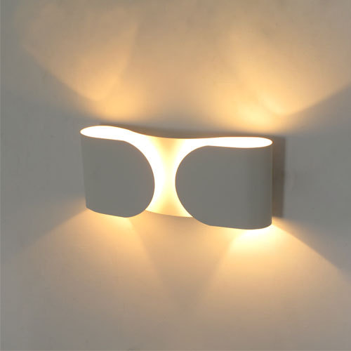 Modern Contracted Wall Lamps White/Black/Red/Silver Tie Lights Bedroom Bedside Corridor