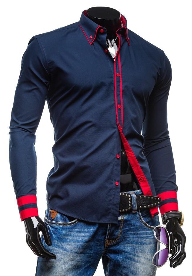 camisa de ajuste vestido delgado de los hombres, men's slim fit dress shirt