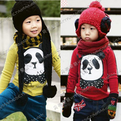 2012 autumn bow tie male girls clothing baby long-sleeve T-shirt tx-0105