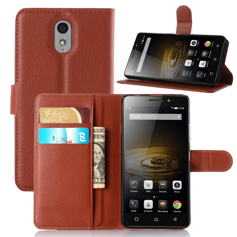 High quality flip leather cover Lenovo Vibe P1m Wallet Style case for Lenovo Vibe P1m cell phone case Wholesale retail(China (Mainland))