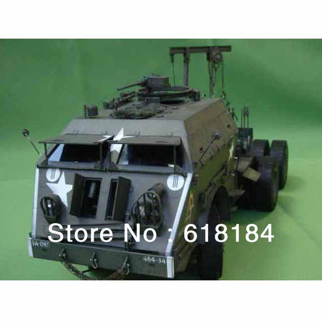 Free shipment A3 paper model Truck 70CM long 1:25 US M25 Dragon Wagon Military Vehicles 3d puzzles for adults car paper crafts(China (Mainland))