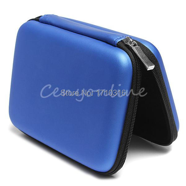 2015 Newest Blue Hard Carry Case Cover Pouch for 2 5 USB External WD HDD Hard