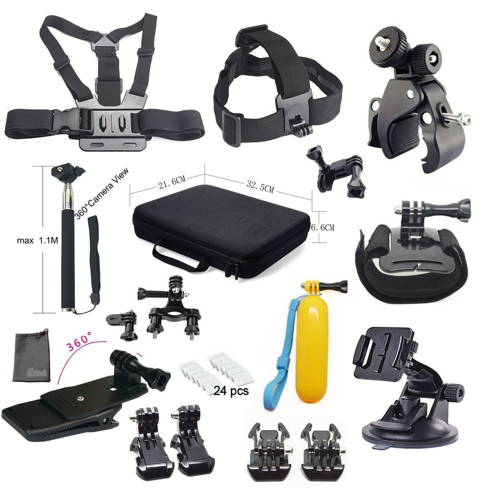 15-in-1 Suitable for Gopro Hero 4 Black / Silver Hd 3+ /3/2/1 Arm+backpack Clip+buoyancy Stick+j-mount<br><br>Aliexpress