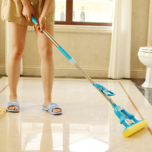 LEAD cleaning tools telescopic folding type Mop with microfiber head for housekeeper cleaning home floor(China (Mainland))