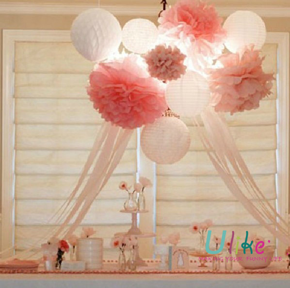 Tissue Paper Decorations Bridal Shower