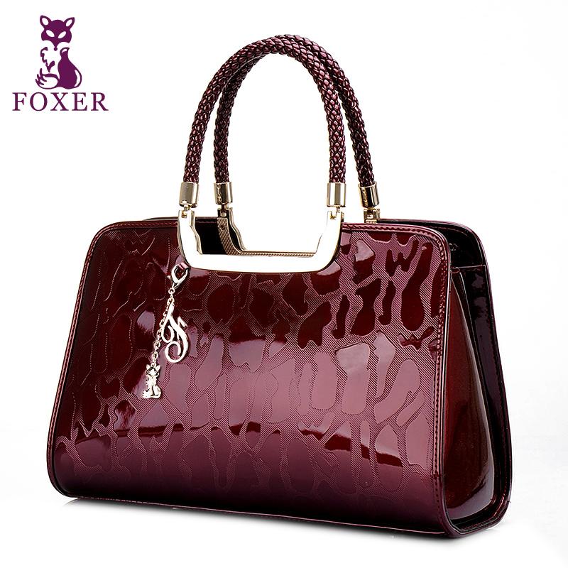 New fashion FOXER women handbag genuine leather bags women shoulder bag ladies tote bolsas femininas