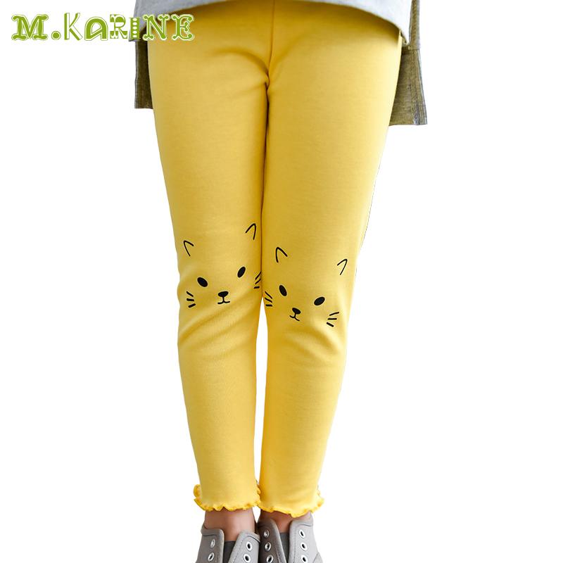 Hot Cute Cartoon Cat Print Girls Leggings Toddler Leggings Candy Color Girls Pants Cartoon Printed Pantyhose for Kids Pantalon(China (Mainland))