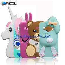 3D Cartoon Rabbit Silicone Case Samsung Galaxy J1 ACE J110 J110F J110H JUDY Bear Bunny Soft Cover - Aicol Electornics Co,.Ltd store