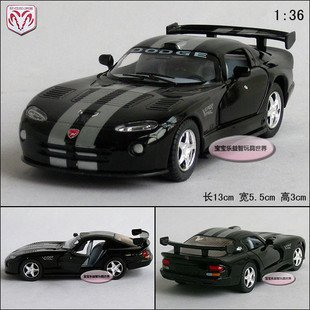 NEW 1:36 Dodge Viper GTS-R Alloy Diecast Model Car Toy Collection Black B368(China (Mainland))
