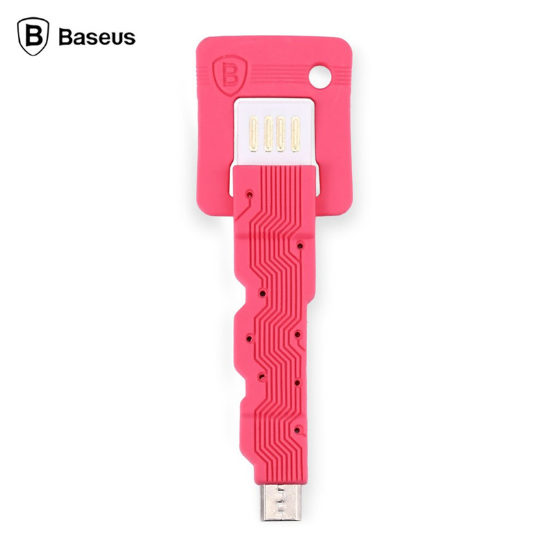 Baseus Mirco Date Mini Key Micro USB Charging Sync Data Cable Mobile Phone Cable for Android System cable usb charger(China (Mainland))