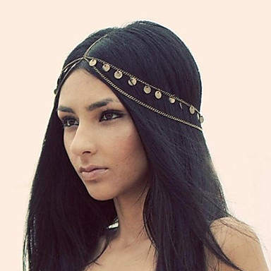 Hot Women Fashion Metal Head Chain Headband Head Piece Hair Band(China (Mainland))