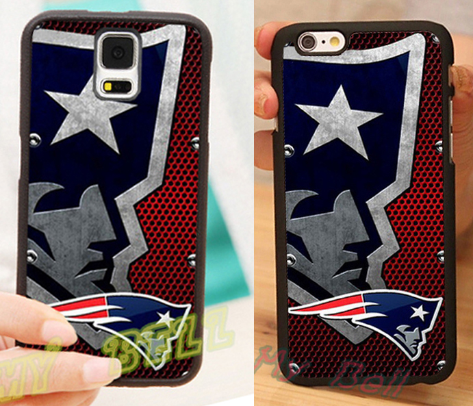 new england patriots nfl logo mobile phone cover cases for iPhone4s 5s 5c 6 6 Plus and for samsung note2 note3 note4 s3 s4 s5 s6(China (Mainland))