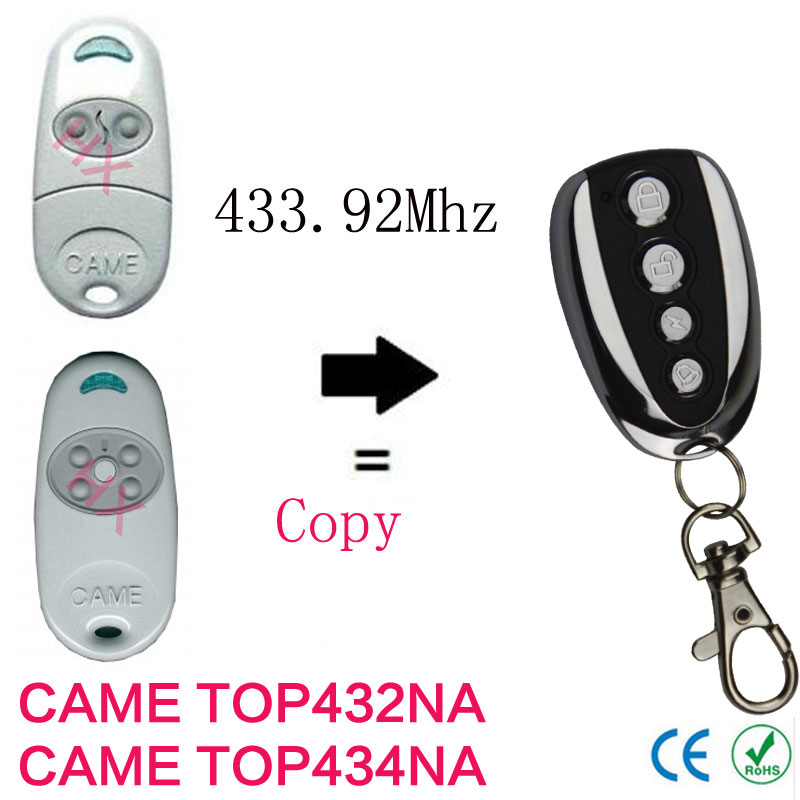 high quality 2PCS copy CAME TOP432NA,CAME TOP434NA 433.92mhz remote control for garage door(China (Mainland))