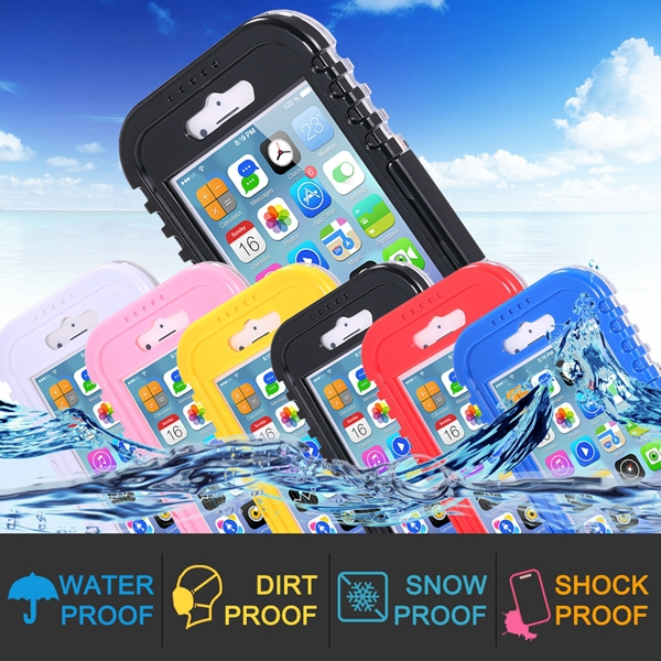 I6/6 Plus Waterproof Case Diving Underwater Watertight Cover For Iphone 6 4.7inch/5.5inch Plus Hard PC+TPU Full Clear Waterproof(China (Mainland))