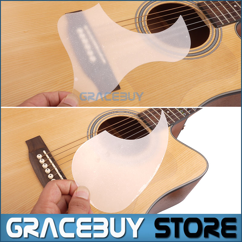 Transparent Acoustic Guitar Pickguard Droplets Or Bird Self-adhesive 41' Pick Guard PVC Protects Your Classical Guitar Surface(China (Mainland))