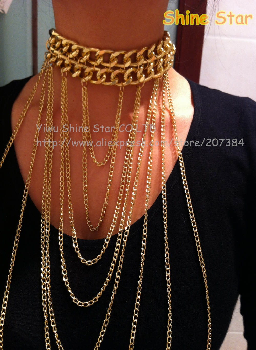 Heavy Gold Chain Necklace Collar Gold Chain Necklace