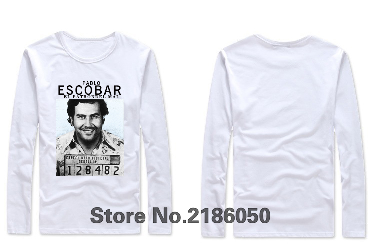 gangster, Pablo escobar t shirt, weed, mafia, scareface, Luciano, Capon men T-shirt Cotton 100%(China (Mainland))