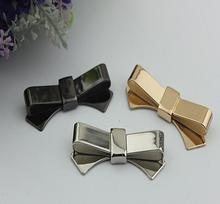 Free shipping (6 PCS/lot) 3 colors high quality beautiful bow sandal shoes button clip DIY manual metal Shoe Decorations(China (Mainland))