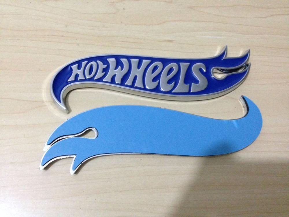 30pair Chrome & BLUE Hot Wheels Flames Emblem Badge Hot Rod, Mustang, Camaro(China (Mainland))