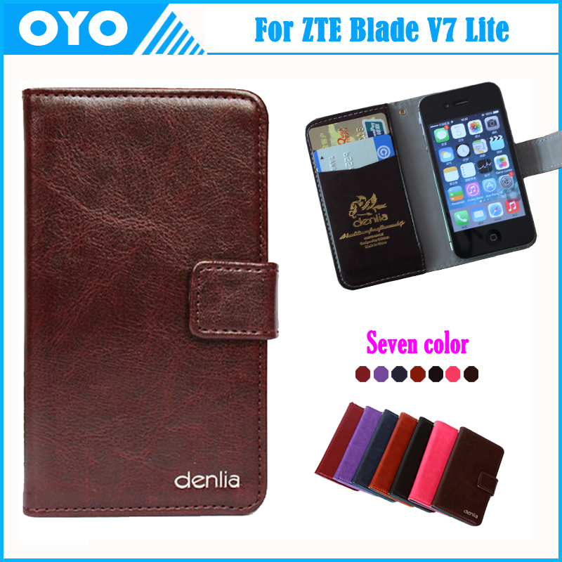 Factory Price ZTE Blade V7 Lite Case 7 Colors Luxury Genuine Leather Exclusive Phone Cover+Tracking  -  ShenZhen OYO Technology Co., Ltd. store