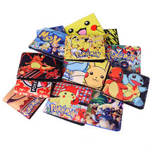 Pokemon Go Wallet Pikachu Cartoon Pocket Monster Wallet Billetera For Teenager Boy Girls Leather Money Bag Purse