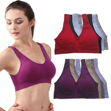 Buy NEW Womens Sport Bra Fitness Yoga Running Vest Underwear Padded Crop Tops Underwear 7 Colors Wire-rim Bras P2 for $2.45 in AliExpress store
