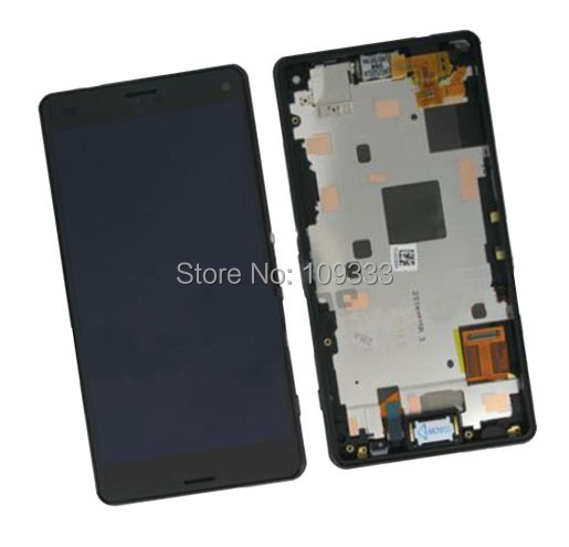 Original Z3 L55T L55U D6653 D6633 D6603 LCD Screen with Digitizer Touch Display with frame Replacement complete For sony Xperia(China (Mainland))