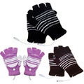 1Pair 5V USB Powered Heating Heated Winter Hand Warmer Gloves Washable Plug and Play Outdoor For