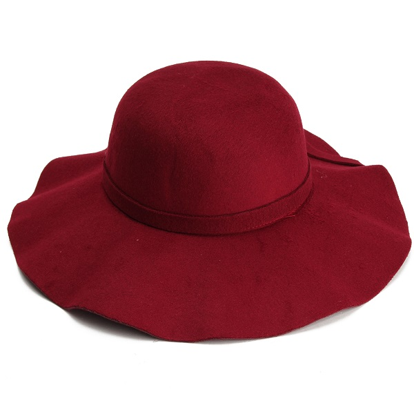 2015 Hot new Vintage Kids Child Boy Girl Hats Wool Felt Crushable Wide Large Brim Floppy