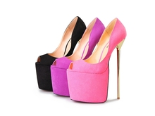 Free shipping Sexy  20CM EXTREME High heel  3 color Peep Toe  platform Hot women party pumps dance shoes(China (Mainland))