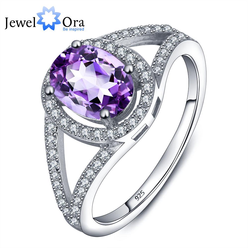 genuine 925 jewelry amethyst ring 925