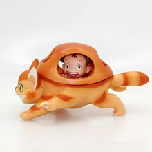 Classic Japanese Cartoon PVC Toy Hayao Miyazaki Anime Tonari no Totoro Scen Figure Traffic Tool Totoro Bus Model