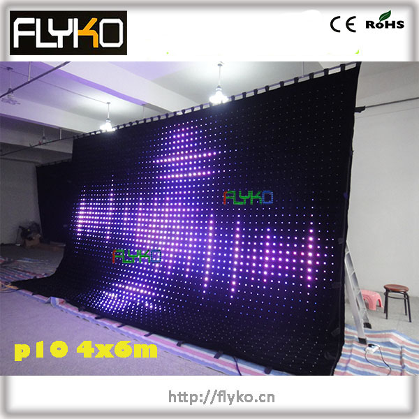 Starlight led display 6m wide by 4m hight with 2400pcs lamps and PC controller(China (Mainland))